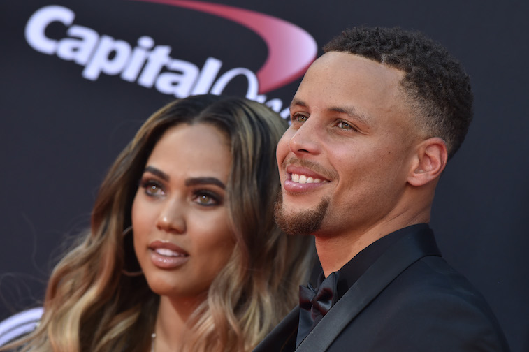 Ayesha Curry and Steph Curry on the red carpet