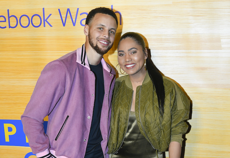 Stephen Curry and Ayesha Curry on the red carpet