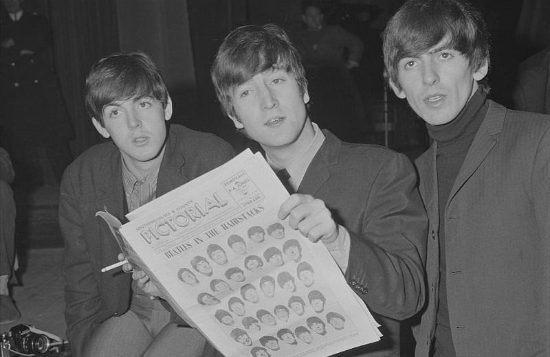 Paul McCartney, John Lennon and George Harrison in 1963