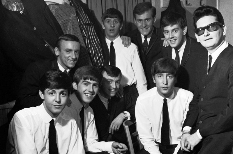 The Beatles and Roy Orbison backstage, '63