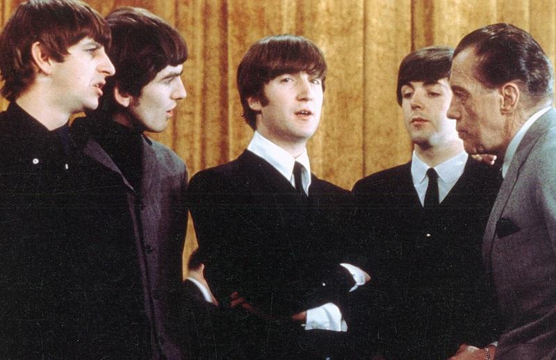 John Lennon with The Beatles and Ed Sullivan