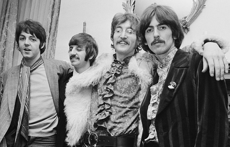 Beatles at 'Sgt. Pepper' release