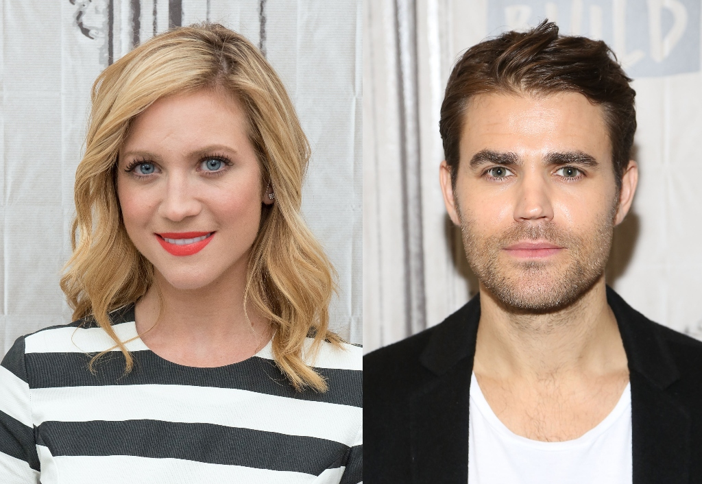 composite image of brittany snow and paul wesley