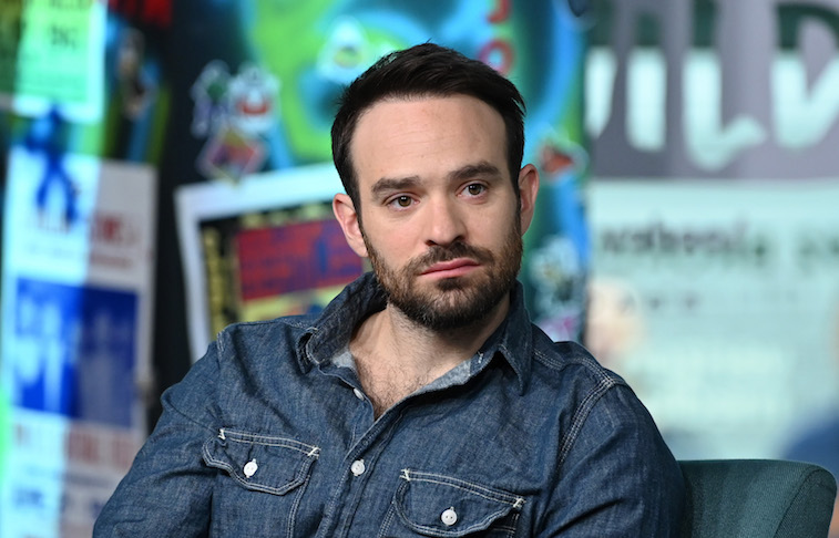 Charlie Cox sits during an interview