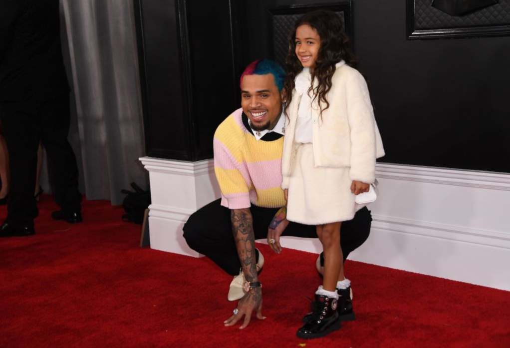 Chris Brown with daughter, Royalty Brown