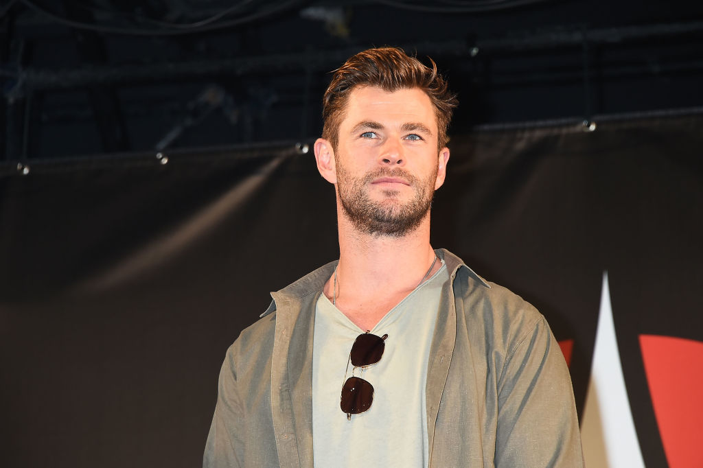 Chris Hemsworth attends the talk event during the Tokyo Comic Con 2019