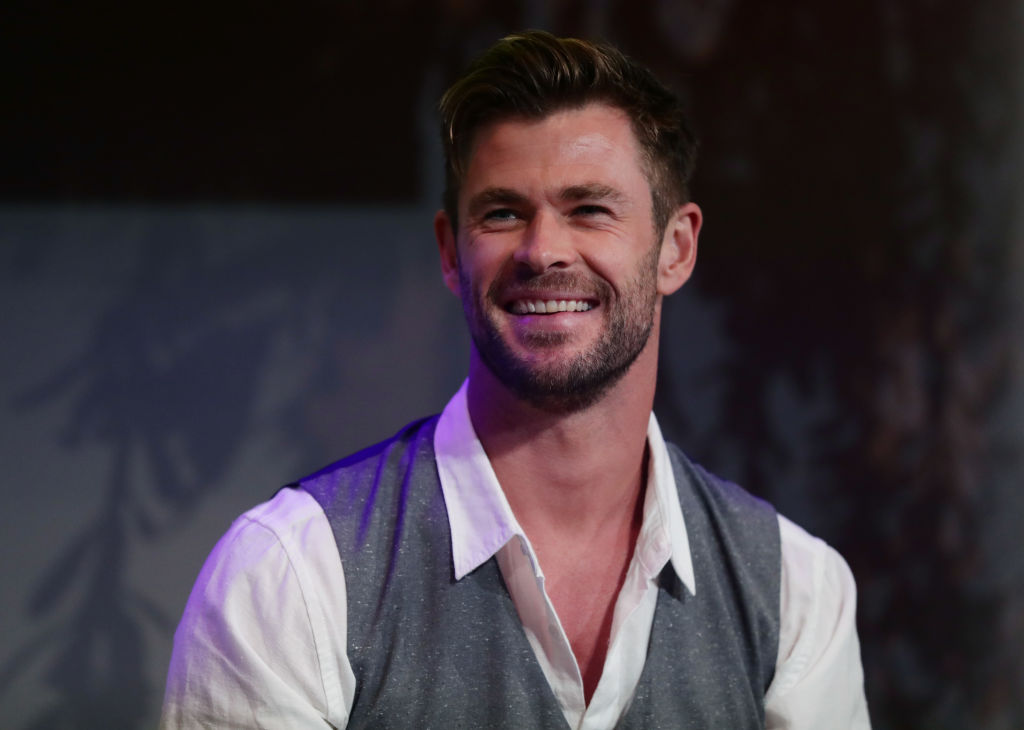 Chris Hemsworth attends a preview of Tourism Australia's latest campaign at Sydney Opera House