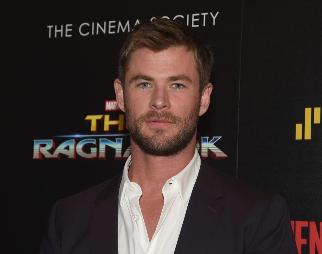 """Chris Hemsworth attends The Cinema Society's Screening Of Marvel Studios' """"Thor: Ragnarok"""""""