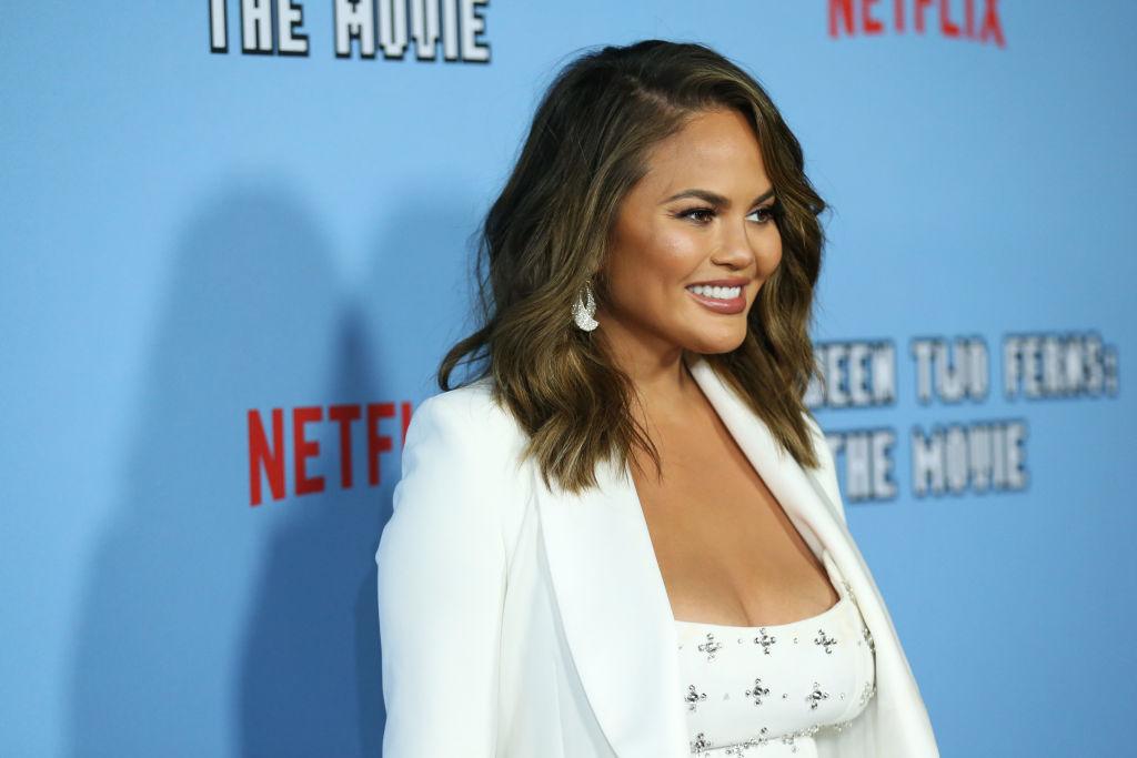 Chrissy Teigen attends the LA premiere of Netflix's 'Between Two Ferns: The Movie' on September 16, 2019