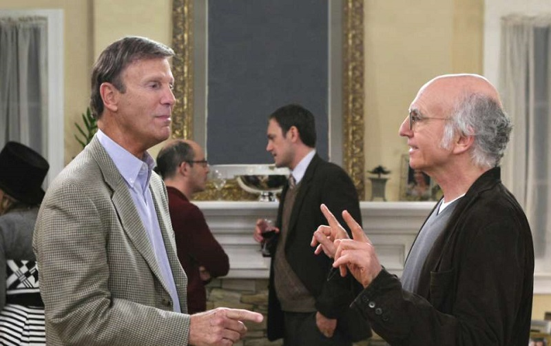 Bob Einstein and Larry David in a 'Curb Your Enthusiasm' scene