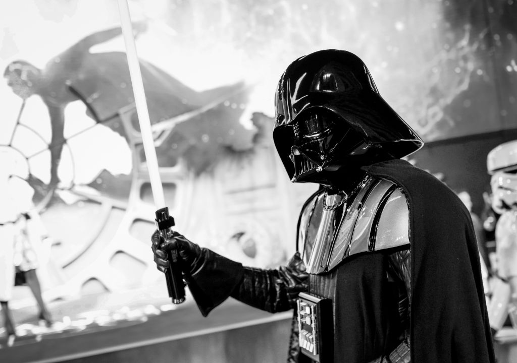 Darth Vader at the European premiere of 'Star Wars: The Rise of Skywalker' at Cineworld Leicester Square on December 18, 2019.