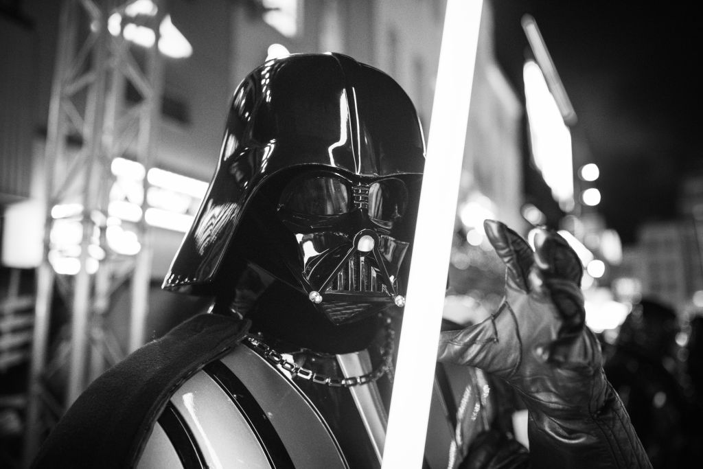 """Darth Vader at the European premiere of """"Star Wars: The Rise of Skywalker"""""""