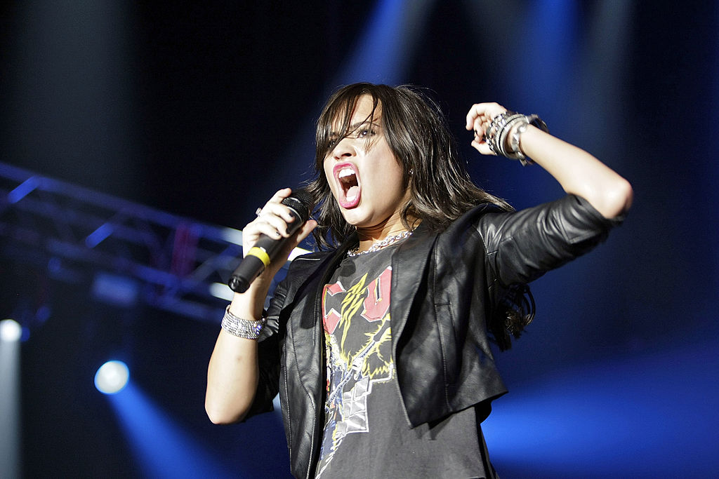Demi Lovato performs at Wembley Arena on June 15, 2009 in London, England.