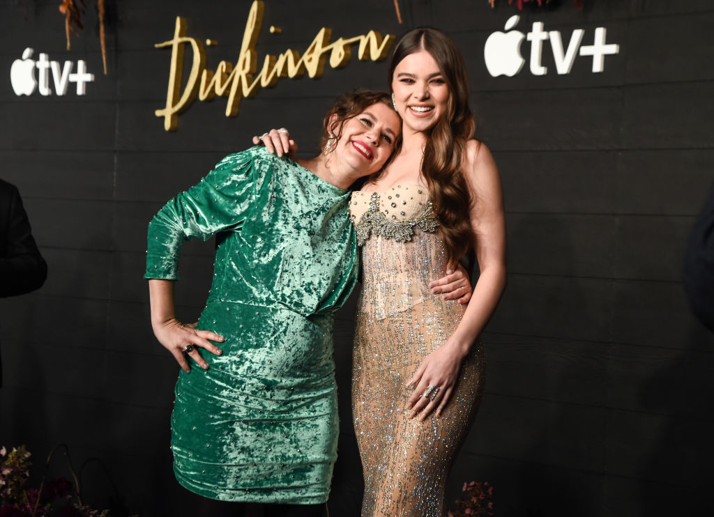 Creator of 'Dickinson' Alena Smith and actress Hailee Steinfeld at Apple's Global Premiere of 'Dickinson' on October 17, 2019