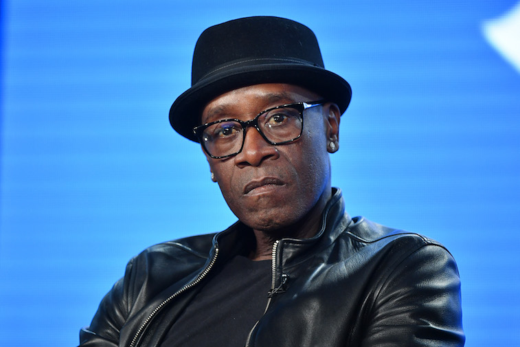 Don Cheadle speaks onstage