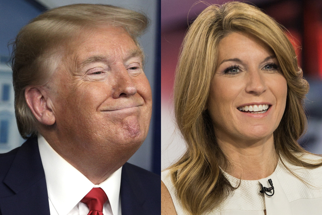 Donald Trump and Nicolle Wallace