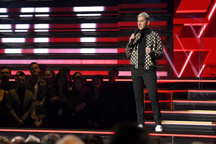 Ellen DeGeneres speaks onstage