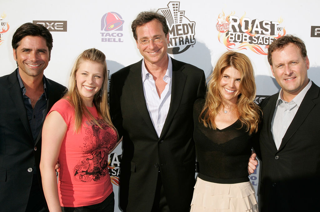 """Full House"""" cast members John Stamos, Jodie Sweetin, Bob Saget, Lori Loughlin and Dave Coulier"""