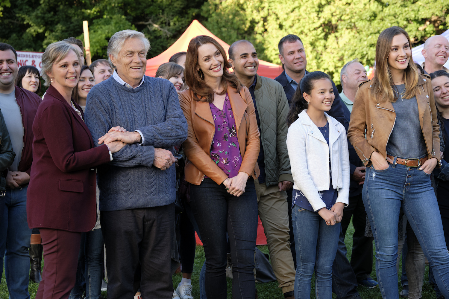 Middleton residents at chili cook-off in a season 6 episode of 'Good Witch' on Hallmark Channel