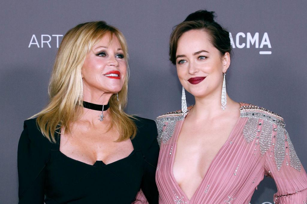 Melanie Griffith and Dakota Johnson at the 2017 LACMA Art + Film Gala on November 4, 2017.
