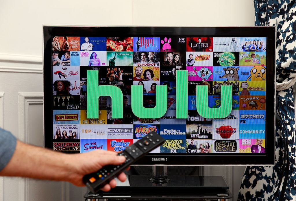 Hulu logo displayed on a televison