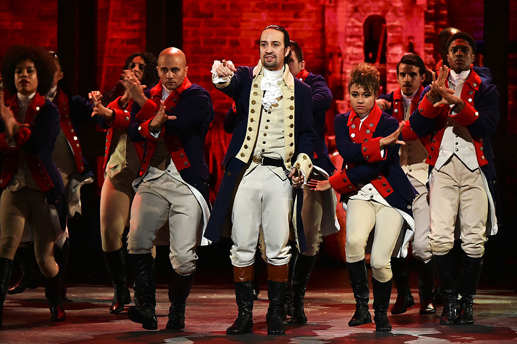 Lin-Manuel Miranda and the cast of 'Hamilton' perform onstage during the 70th Annual Tony Awards at The Beacon Theatre on June 12, 2016.