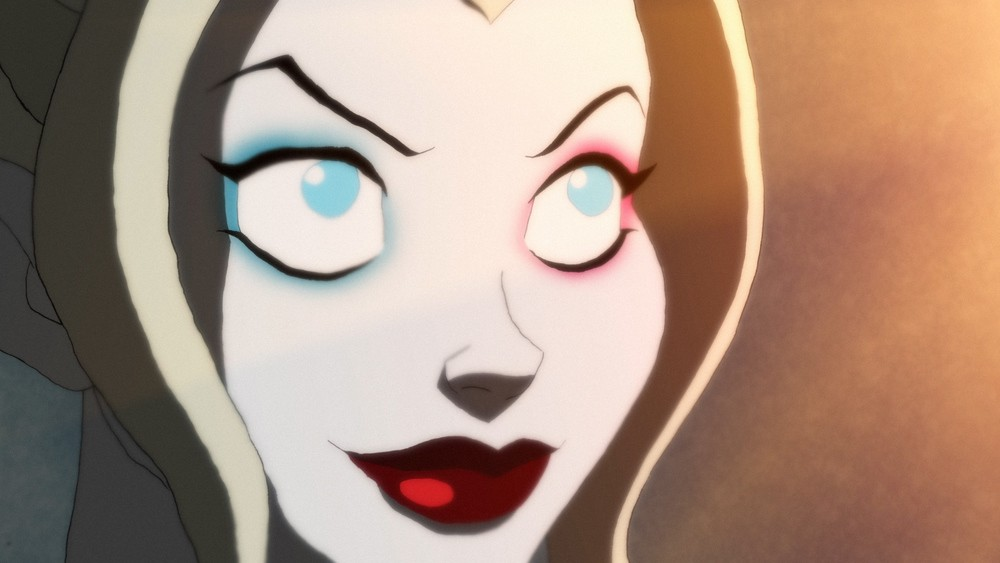 Harley Quinn, voiced by Kaley Cuoco, on DC Universe.