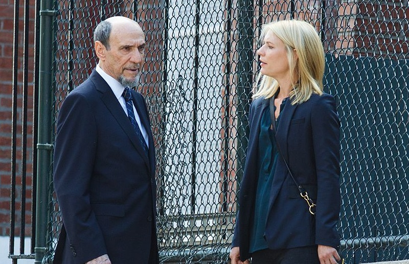 F. Murray Abraham and Claire Danes on 'Homeland' set