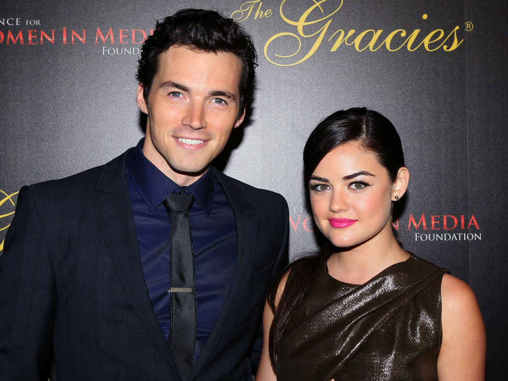 Ian Harding (L) and Lucy Hale attend the 38th Annual Gracie Awards Gala at The Beverly Hilton Hotel on May 21, 2013 in Beverly Hills, California.