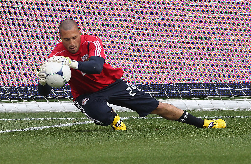 Jeremy Vuolo appesrs for the New York Red Bulls at Red Bull Arena in Harrison, New Jersey