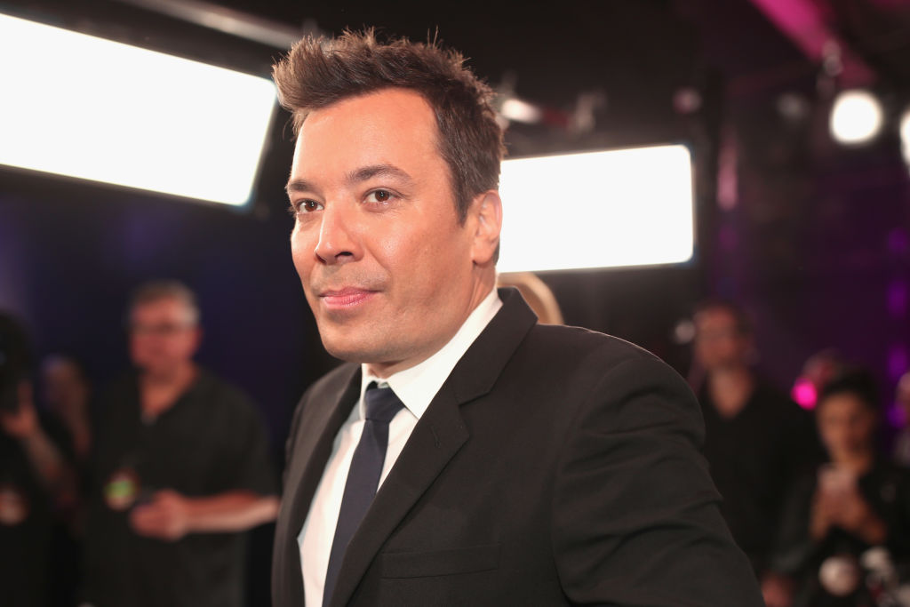Jimmy Fallon in front of lights