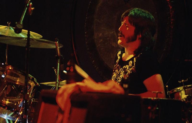 John Bonham performs on the drums