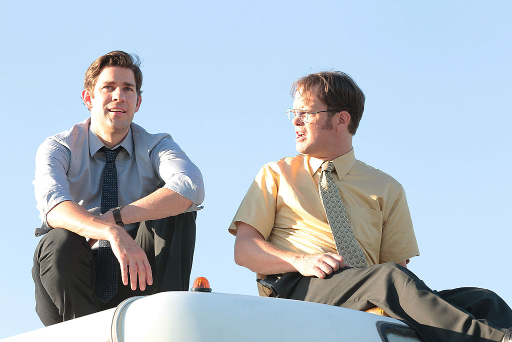 John Krasinski and Rainn Wilson The Office