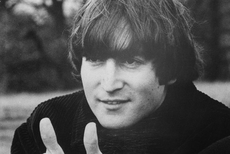John Lennon gives the thumbs up