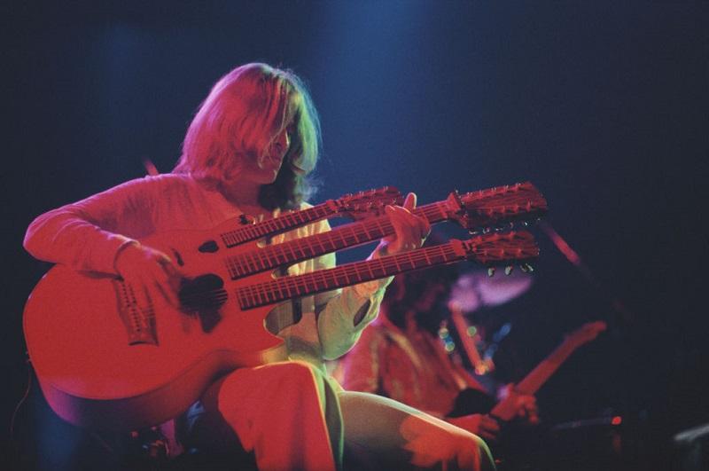 John Paul Jones on stage with Led Zeppelin