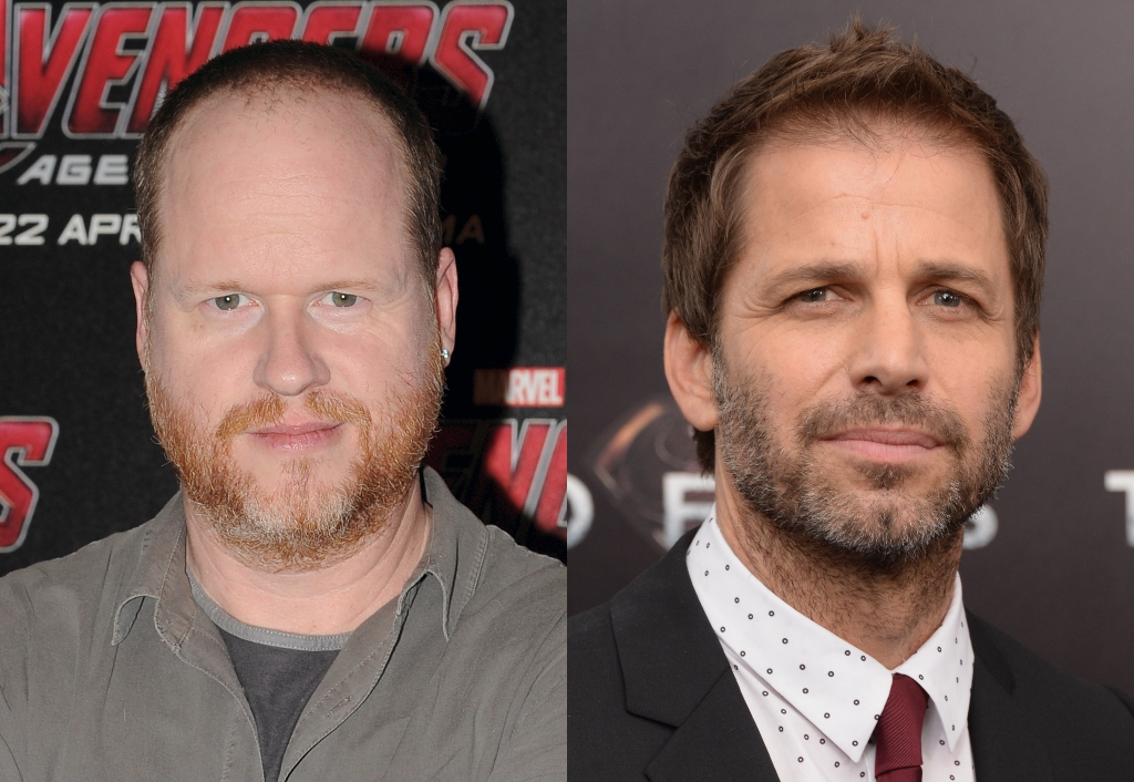 composite image of Joss Whedon and Zack Snyder
