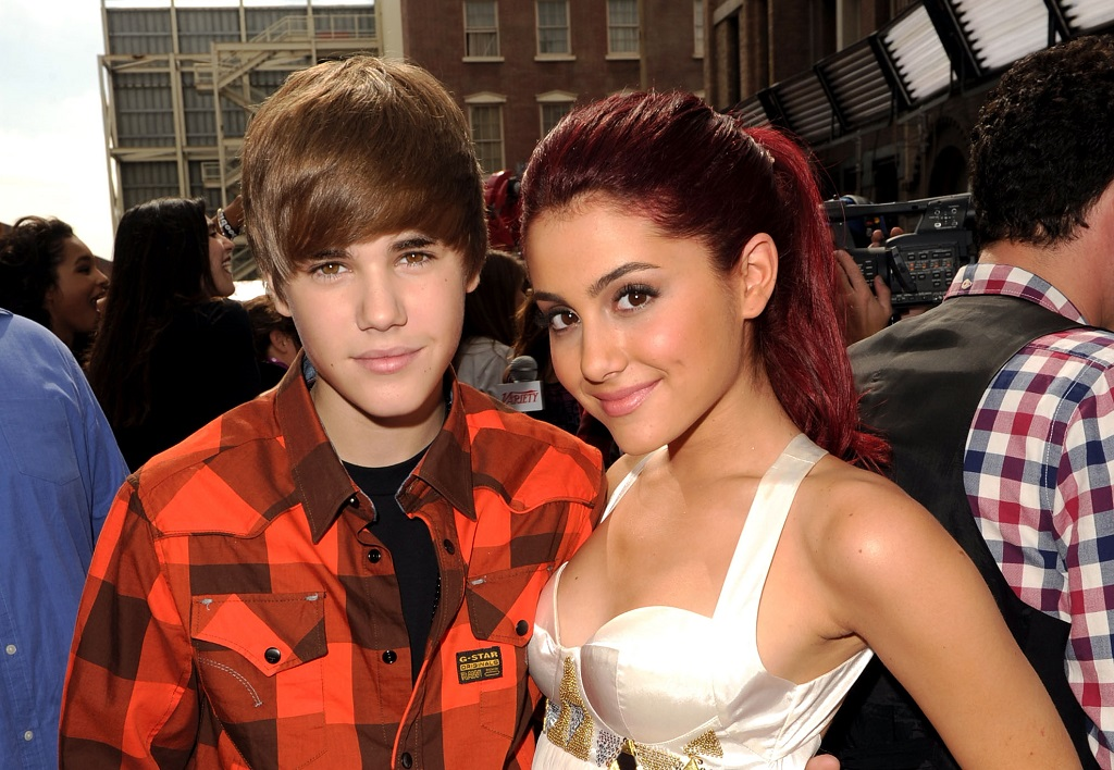 Justin Bieber (L) and Ariana Grande attend Variety's 4th Annual Power of Youth event on October 24, 2010