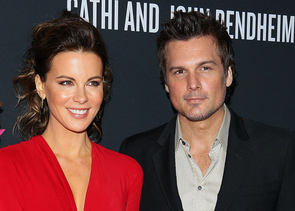 Kate Beckinsale and Len Wiseman attend the Elyse Walker's Pink Party Benefiting The Women's Cancer Program At Cedars-Sinai's Samuel Oschin Comprehensive Cancer Institute held at The Barker Hanger on October 19, 2013 in Santa Monica, California.