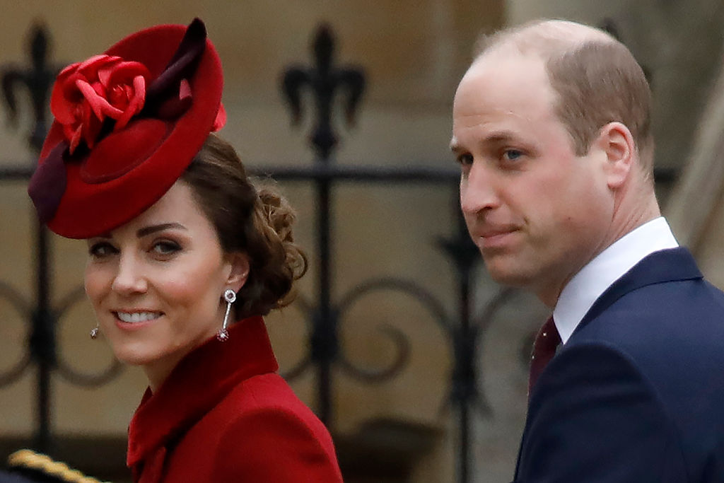 Kate Middleton and Prince William arrive to attend the annual Commonwealth Service at Westminster Abbey