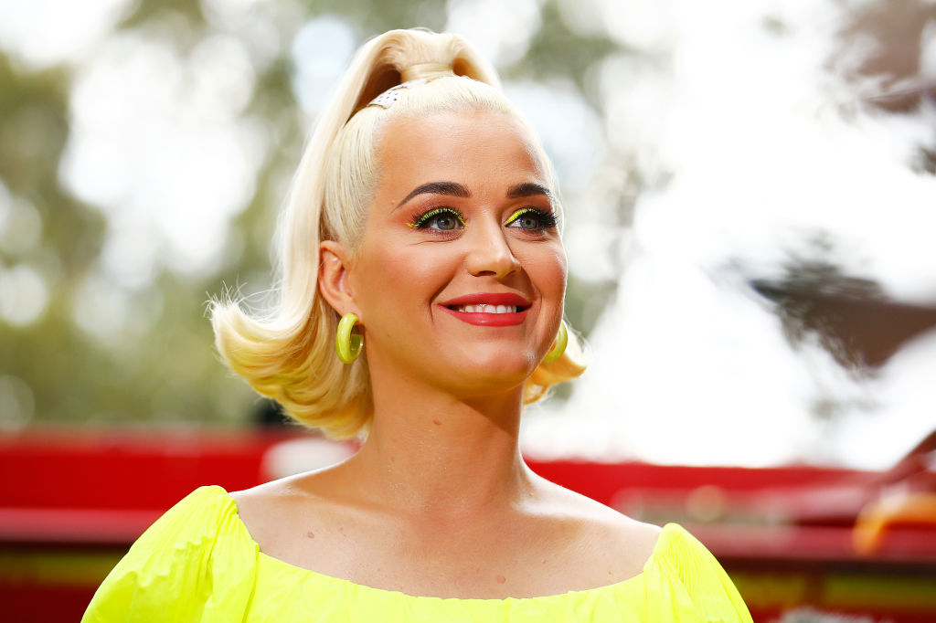Katy Perry speaks to media on March 11, 2020 in Bright, Australia.