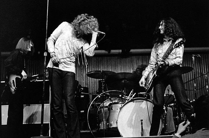 Led Zeppelin performing in Denmark in 1970