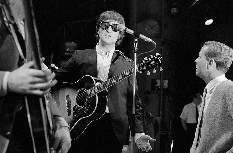John Lennon rehearsing for 'Ed Sullivan'