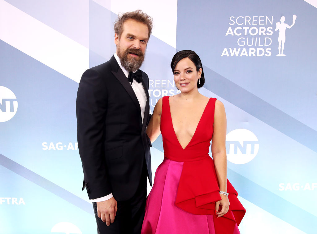 Lily Allen and David Harbour at the SAG Awards