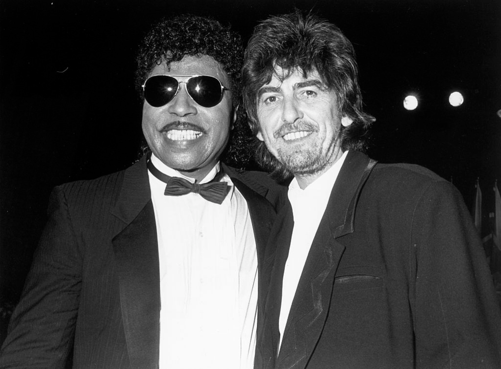 Little Richard and George Harrison of The Beatles