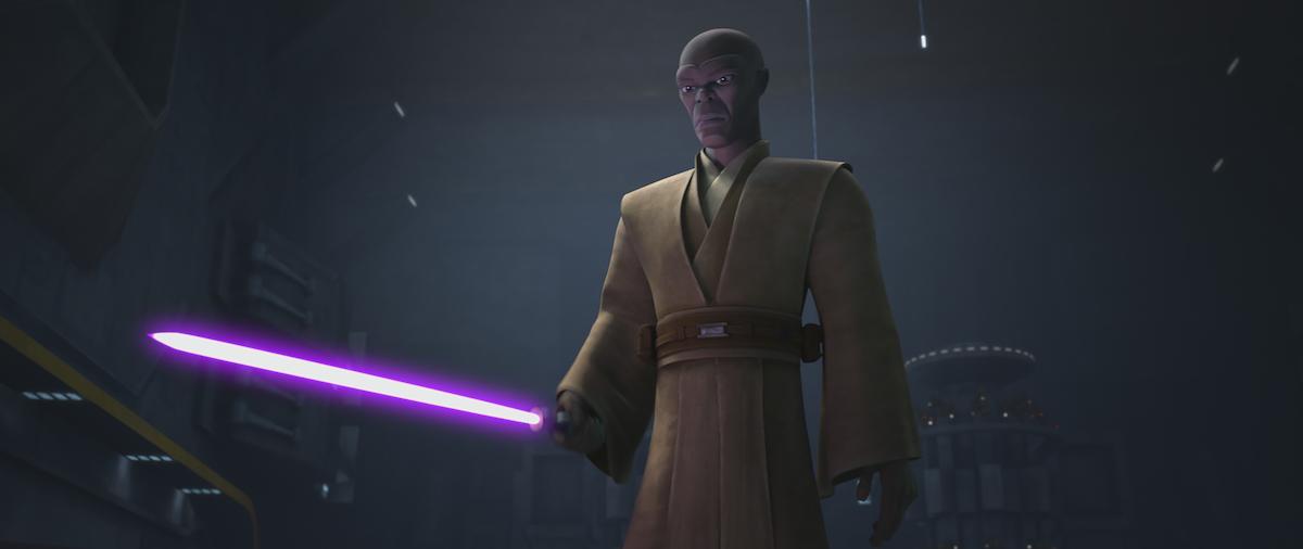 Mace Windu is Episode 4 of Season 7, 'Star Wars: The Clone Wars'