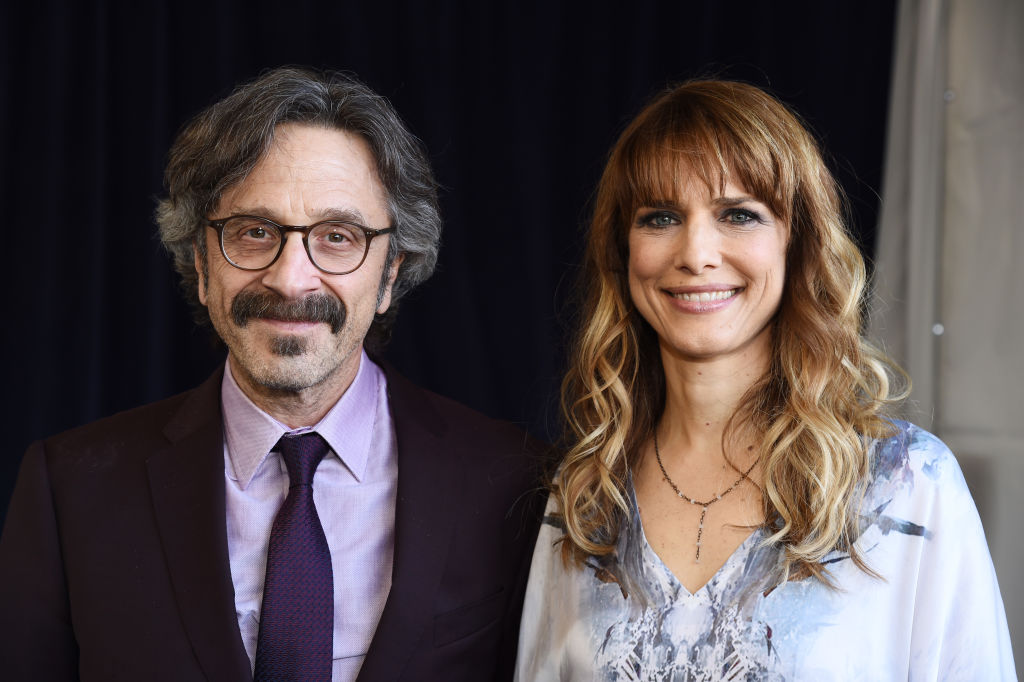 Marc Maron and Lynn Shelton attend the 2020 Film Independent Spirit Awards on February 08, 2020