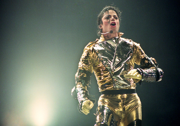 Michael Jackson performs onstage