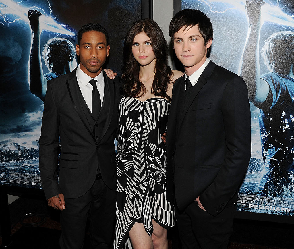 Brandon T. Jackson, Alexandra Daddario, and Logan Lerman at the premiere of 'Percy Jackson & The Olympians: The Lightning Thief' on February 4, 2010 in New York City