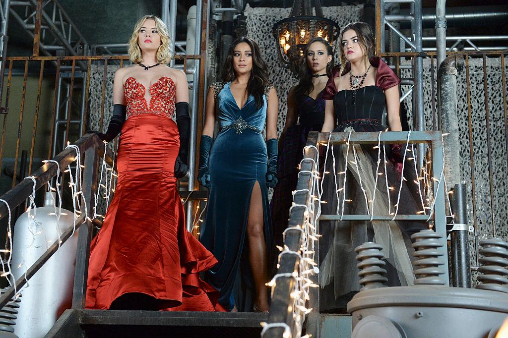 Ashley Benson, Shay Mitchell, Troian Bellisario, and Lucy Hale in 'Pretty Little Liars' Season 5