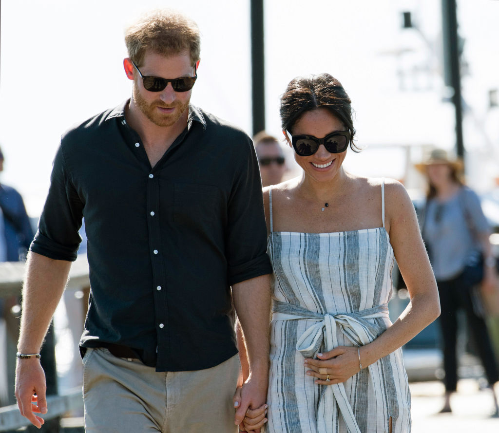 Prince Harry and Meghan, Duchess of Sussex visit Kingfisher Bay Resort on October 22, 2018 in Fraser Island, Australia